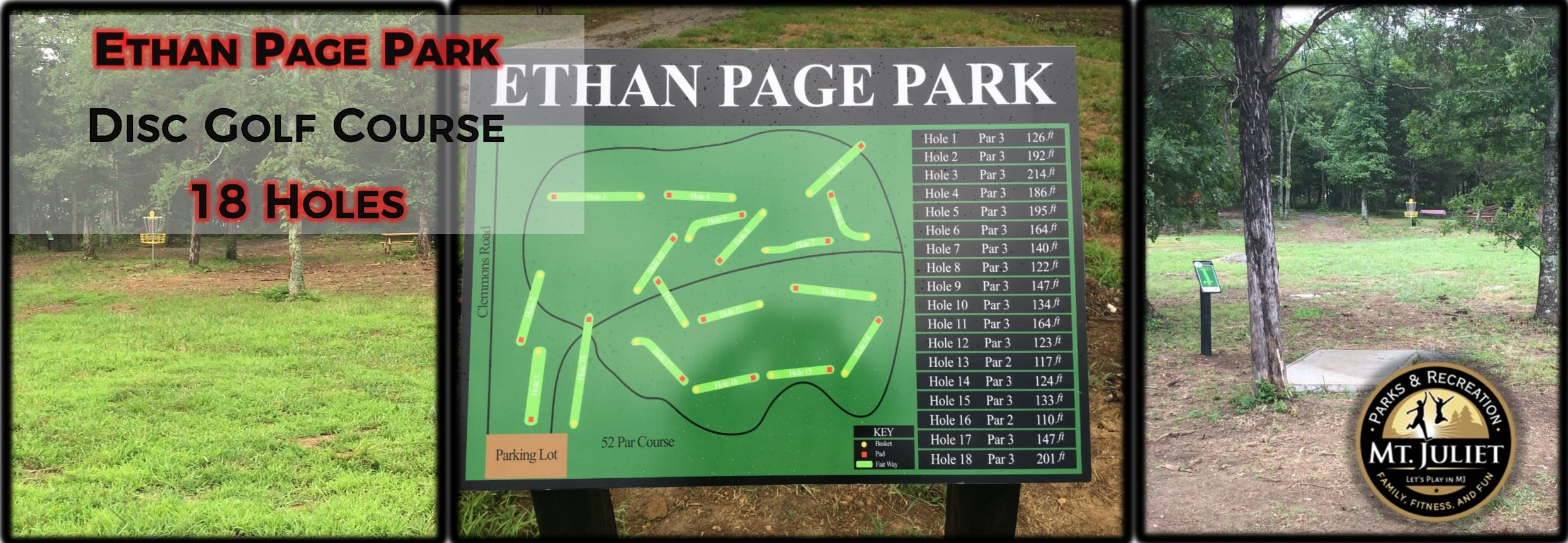 Ethan Page Park Banner